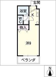 TOMIX−FLAT[4階]の間取り