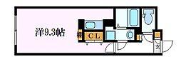 名古屋市営鶴舞線 浄心駅 徒歩2分の賃貸マンション 2階ワンルームの間取り