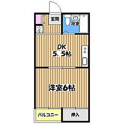 マンションミヤコ[1階]の間取り