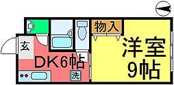 東京都葛飾区新小岩2丁目の賃貸マンションの間取り