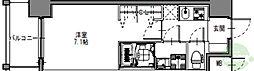 S-RESIDENCE三国WEST 11階1Kの間取り