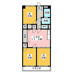 フローリア御器所[3階]の間取り