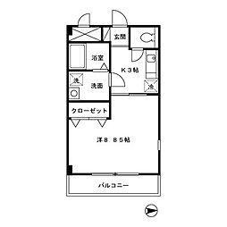東京都練馬区石神井町4丁目の賃貸マンションの間取り