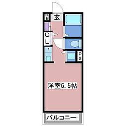 YKハイツ小久保[4階]の間取り