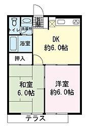 ドミール真洋2号館[1階]の間取り
