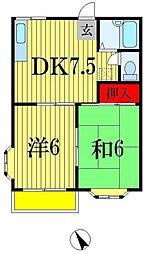 ジョイフル西船2[1階]の間取り