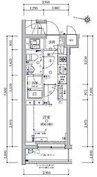 JR山手線 目黒駅 徒歩9分の賃貸マンション 4階1Kの間取り