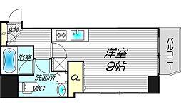 ライブコート北梅田[13階]の間取り