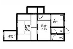 小田原アパート[1階]の間取り