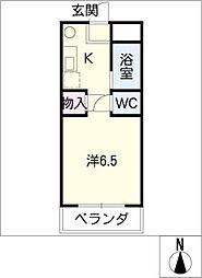 シェルブライト三番館[3階]の間取り