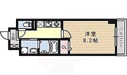 名古屋市営桜通線 桜山駅 徒歩4分の賃貸マンション 8階1Kの間取り