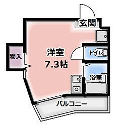 メゾンジョイII[201号室]の間取り