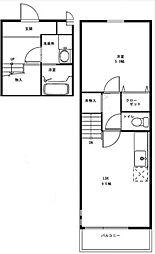 サニーヒル白鷺[2階]の間取り