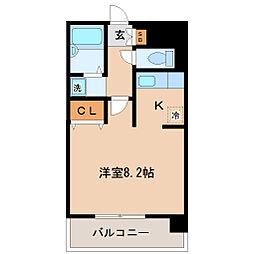 シオンハイツ[1階]の間取り
