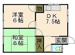 シャトレ花園[2階]の間取り