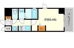 エステムコート新大阪XIIオルティ 12階1Kの間取り