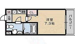casa 片鉾 2階1Kの間取り