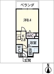 メゾン加納栄町通E 3階1SKの間取り