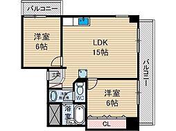 アライブ21[4階]の間取り