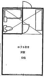 サンハイム霞ヶ関[102号室]の間取り