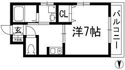 兵庫県川西市小戸1丁目の賃貸マンションの間取り