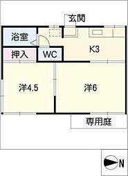 コーポ88[1階]の間取り