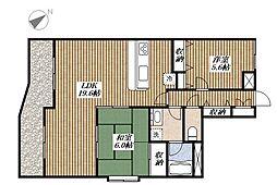 ラ・プロヴァンス[3階]の間取り