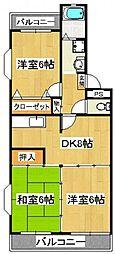 ガーデンタウン本中山[1階]の間取り