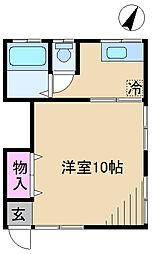 東京都北区滝野川4丁目の賃貸アパートの間取り