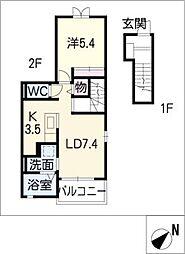 ラルバ[2階]の間取り