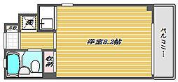 東京都品川区中延4丁目の賃貸マンションの間取り