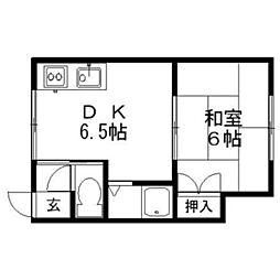 メゾンドルフレ[2階]の間取り