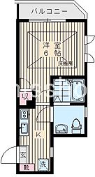 7576-ピアコートTM高円寺 3階1Kの間取り