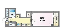 ハウスアイ杭全[3階]の間取り