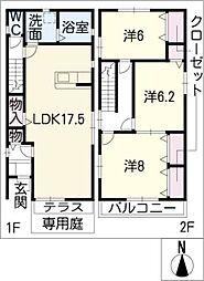 [一戸建] 愛知県名古屋市熱田区切戸町3丁目 の賃貸【/】の間取り