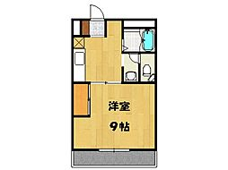 ルーブル A棟[106号室号室]の間取り