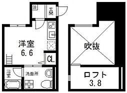 ソラーナ新今里[105号室号室]の間取り