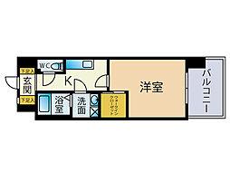 ウェルブライト博多[13階]の間取り