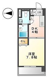 ティーズドリーム名駅[9階]の間取り
