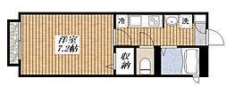 東京都昭島市松原町5丁目の賃貸アパートの間取り