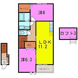 東浦町 ネオ サニーNT B[0202号室]の間取り