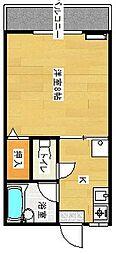 エスティアム中須賀[2-B号室]の間取り