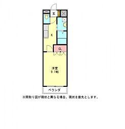 愛知県稲沢市六角堂東町4丁目の賃貸アパートの間取り