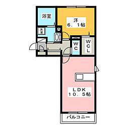 プルミエ A棟[2階]の間取り