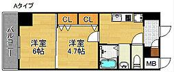 グランパシフィックパークビュー[6階]の間取り
