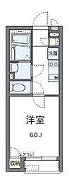神奈川県横浜市保土ケ谷区峰岡町1丁目の賃貸アパートの間取り