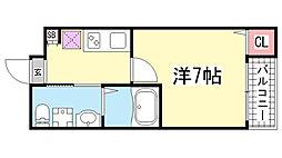 ワコーレヴィータ神戸上沢通PRIME[103号室]の間取り