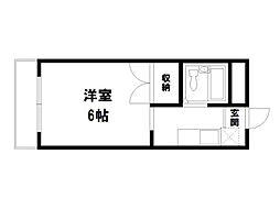 トワール高野[4階]の間取り