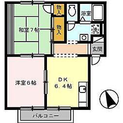 グッドワン[1階]の間取り