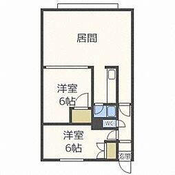 瀬比亜館セゾンI[1階]の間取り